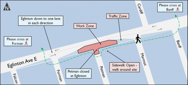 Map of Emergency Exit Building site