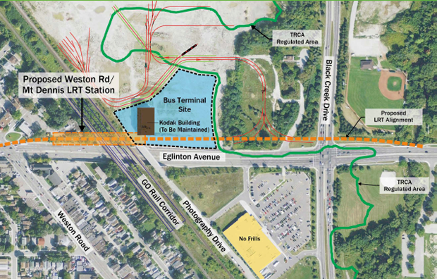 Preliminary rendering of how the Station and Bus Terminal Site will be connected