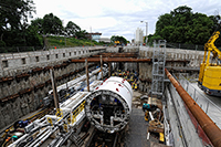 Tunnel boring site at Black Creek Drive