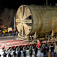 Tunnel Boring Machine move April 18-19