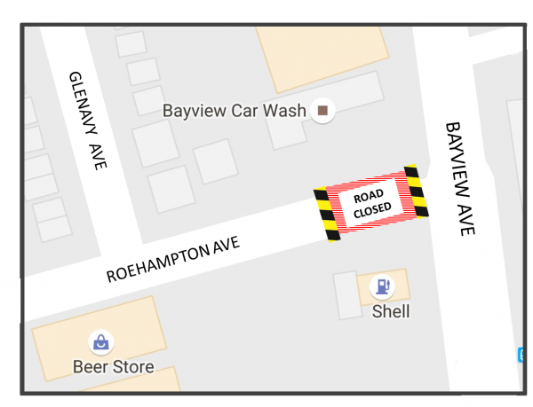 1 Day Closure of Roehampton Avenue from Glenavy Ave. to Bayview Ave.